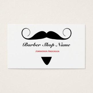 Trendy Schnurrbart-Friseur-Geschäfts-Haar-Stylist Visitenkarten