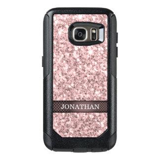 Trendy Weinbrand-Rosen-Glitter-Muster OtterBox Samsung Galaxy S7 Hülle