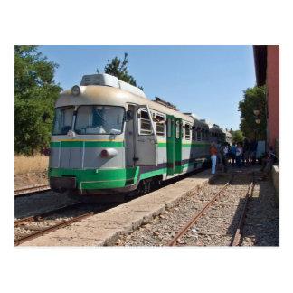 Trenino Verde, das wenig grüner Zug, Sardinien Postkarte