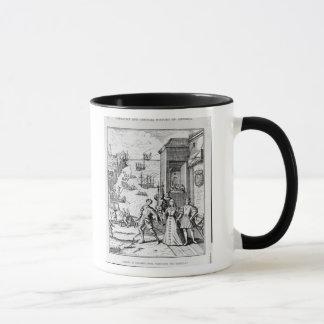 Trennung von Columbus mit Ferdinand und Tasse