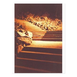 Treppe im Sepia durch Bernadette Sebastiani Postkarte