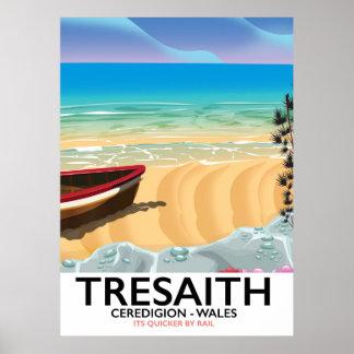 Tresaith, Ceredigion Strand Wales-Küstenplakat Poster