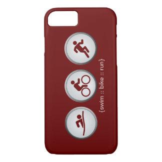 Triathlon Schwimmen-Fahrrad-Geführter iPhone 7 iPhone 8/7 Hülle