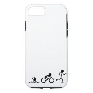 Triathlon-Strichmännchen iPhone 8/7 Hülle