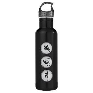 Triathlon SWIM-CYCLE-RUN (Schwarzes) Trinkflaschen