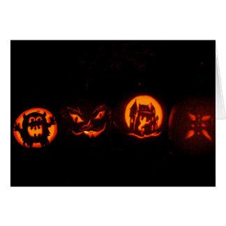 Trick-oder Leckerei-Halloween-Kürbise Karte
