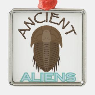 Trilobite alte Außerirdische Silbernes Ornament