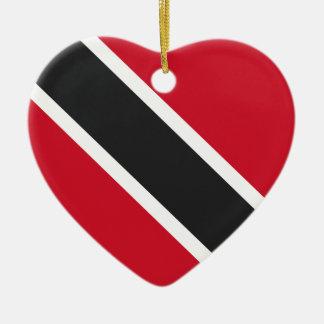 Trinidadtobago Flagge Keramik Herz-Ornament