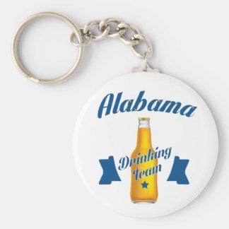 Trinkendes Team Alabamas Standard Runder Schlüsselanhänger