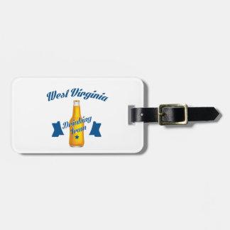 Trinkendes Team Wisconsins Kofferanhänger