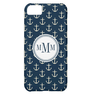 Trio-Monogramm-Anker-Muster iPhone 5C Hülle