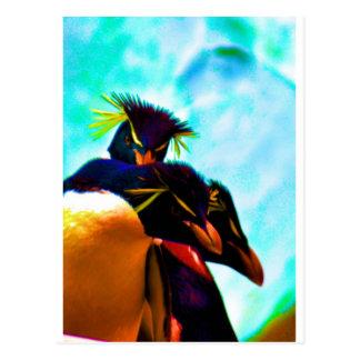 Trio von Rockhopper Pinguinen Postkarte