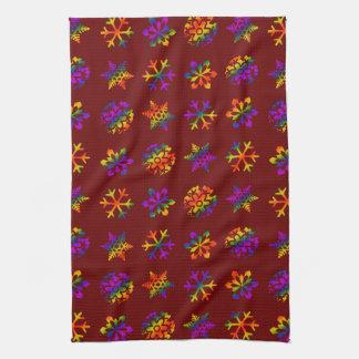 Trippy Schneeflocken Handtücher