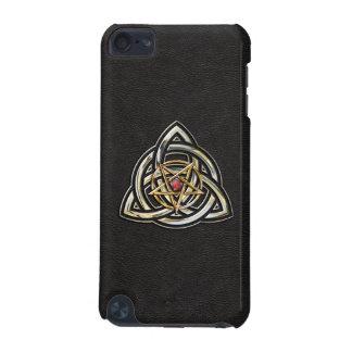 Triquetra Pentagram auf Schwarzem