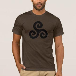 Triskele keltischer schwarzer Symbol-T - Shirt
