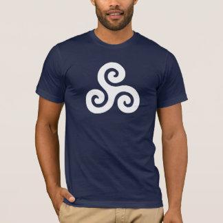 Triskele keltischer weißer Symbol-T - Shirt