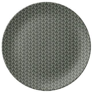 Triskell-Sockel schmilzt grau Teller Aus Porzellan
