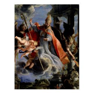 Triumph von St Augustine 1664 Postkarte