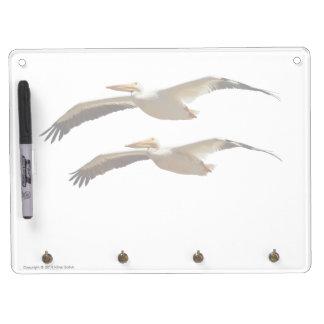 Trockenes Löschen-Brett des Fliegen-Pelikan-4 Trockenlöschtafel Mit Schlüsselanhängern