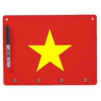 Trocknen Sie Löschen-Brett mit Flagge von Vietnam Trockenlöschtafel Mit Schlüsselanhängern
