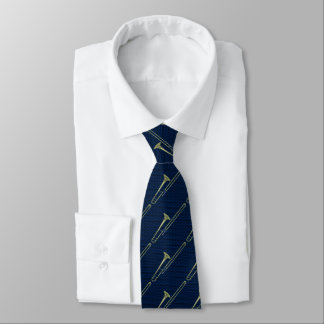 Trombone-Blau Individuelle Krawatte