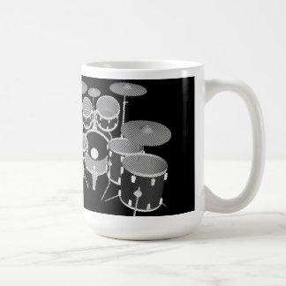 Trommel-Ausrüstung (schwarz u. Weiß) - Kaffeetasse