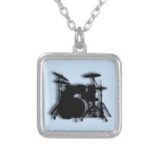 Trommel-Musik-Entwurf Halskette Mit Quadratischem Anhänger
