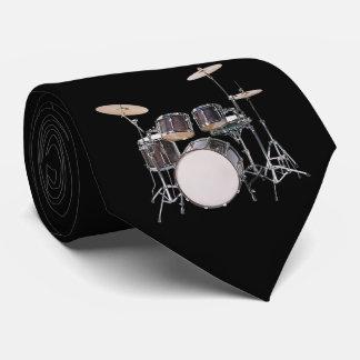 Trommel-Set mit Becken-Krawatte Bedruckte Krawatten
