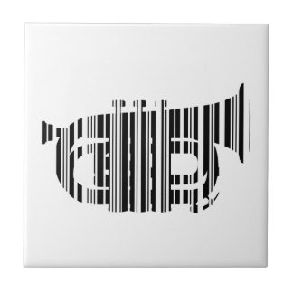 TROMPETE-BAR-CODE Musik-Barcode-Muster-Entwurf Kleine Quadratische Fliese