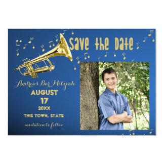 Trompete-Bar Mitzvah Save the Date 11,4 X 15,9 Cm Einladungskarte