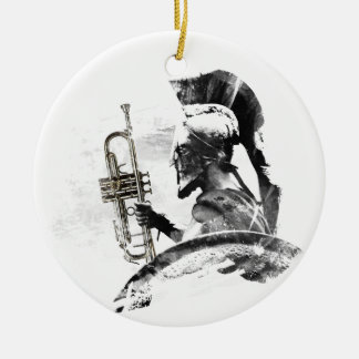 Trompete-Krieger Keramik Ornament