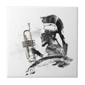 Trompete-Krieger Kleine Quadratische Fliese