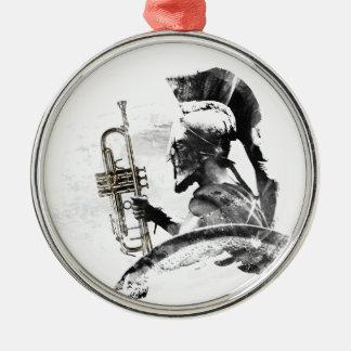 Trompete-Krieger Silbernes Ornament
