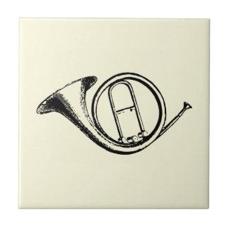 Trompete u. Musik-Liebe Kleine Quadratische Fliese
