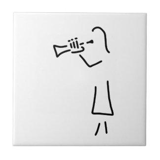 trompeter blechblaeser kleine quadratische fliese