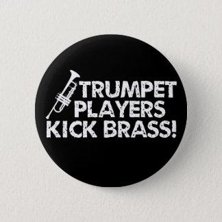 Trompeters-Tritt-Messing! Runder Button 5,7 Cm