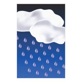 Tropfen des Regens Briefpapier