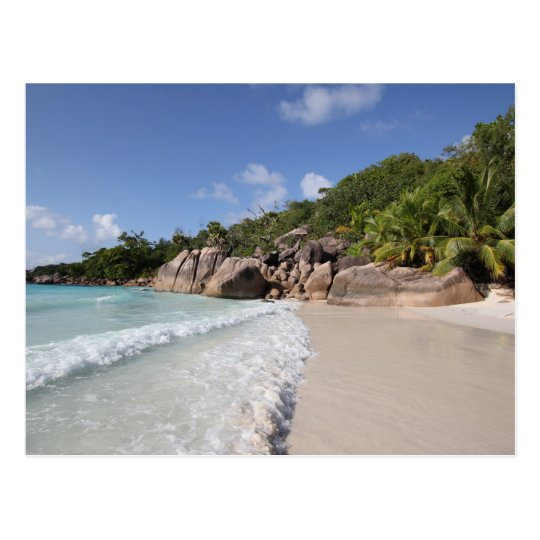Tropical Beach, Seychelles, Indian Ocean Postkarte