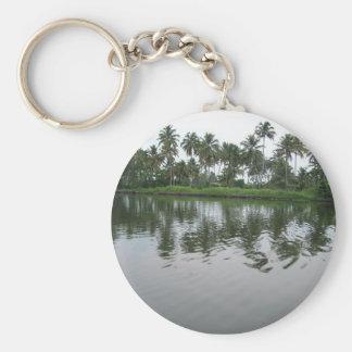 Tropisch Standard Runder Schlüsselanhänger