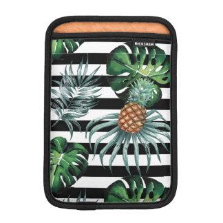 Tropische Ananas des Aquarells mit schwarzen Sleeve Für iPad Mini