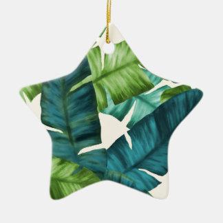Tropische Banane verlässt ursprüngliches Muster Keramik Ornament