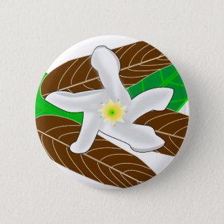 Tropische Blume Runder Button 5,1 Cm