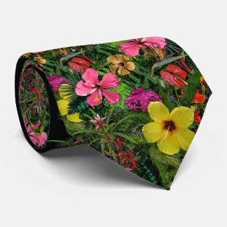 Tropische Blumen Personalisierte Krawatten