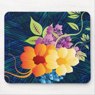 Tropische Blumen u. Reben Mauspads