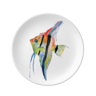 Tropische Fisch-Kunst-dekorative Porzellan-Platte Porzellanteller