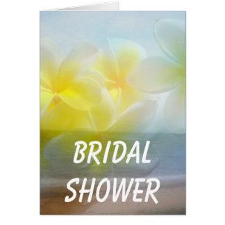 Tropische Hafen-Hochzeit Karte