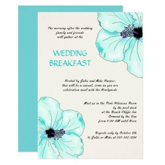 Tropische Hochzeits-Frühstücks-Hibiskus-Einladung 12,7 X 17,8 Cm Einladungskarte