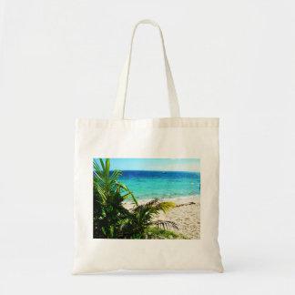 Tropische Insel Budget Stoffbeutel