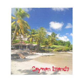 Tropische Insel in den Kaimaninseln Notizblock