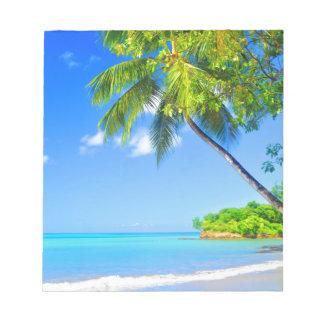 Tropische Insel Notizblock
